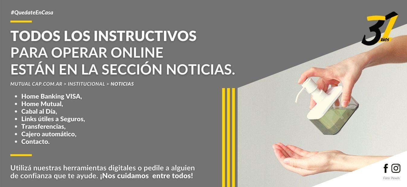 Instructivos para operar con los servicios online de la Mutual del Club Atlético Pilar