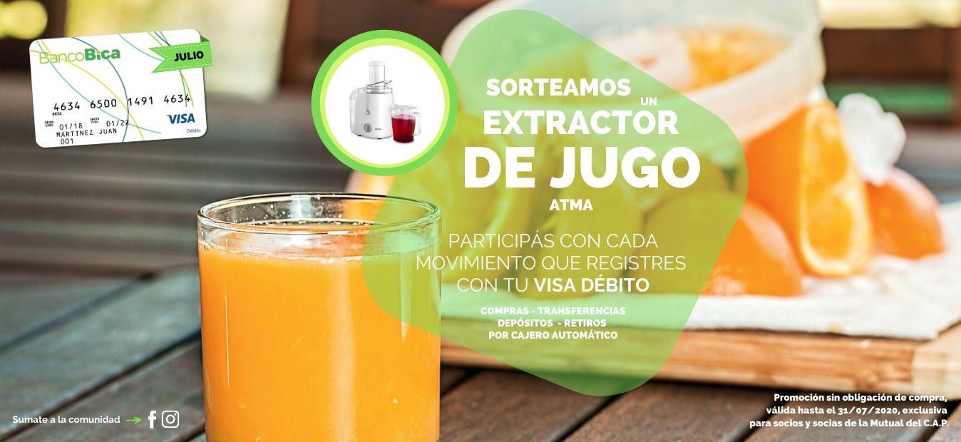 Sorteo Tarjeta VISA Débito - Julio 2020 - Banner web