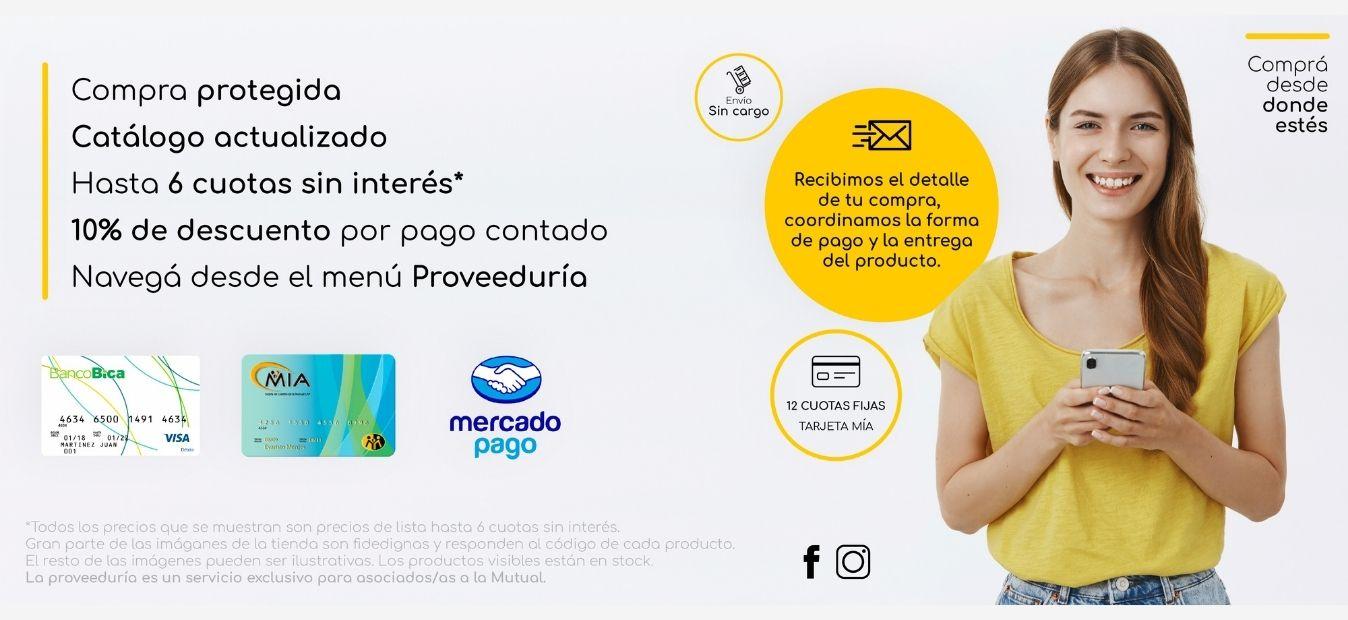 Banner WEB - Tienda Proveeduría online - Mutual del Club Atlético Pilar