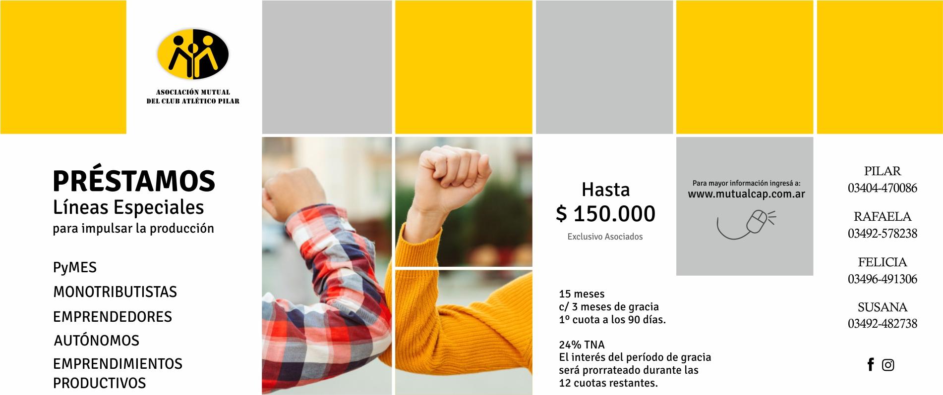 Línea especial de préstamos COVID-19 - Mutual del Club Atlético Pilar