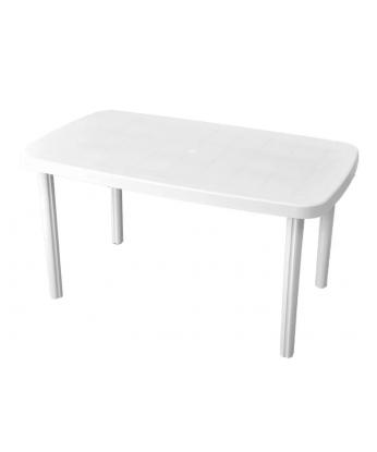 Mesa de plástico rectangular