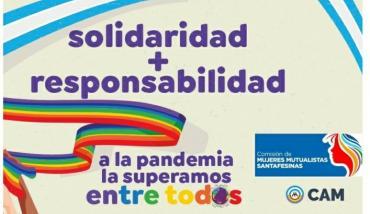 Prevención de la segunda ola de Covid19 - Comisión de Mujeres Mutualistas Santafesinas - Mutual del Club Atlético Pilar